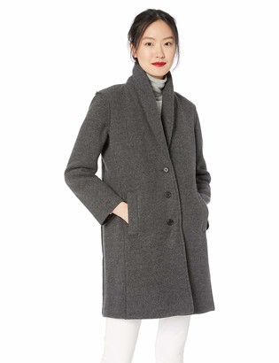 J.Crew Mercantile Women's Boiled Wool Shawl Collar Topcoat