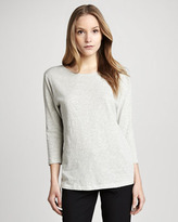 Theory Maas Striped Knit Top