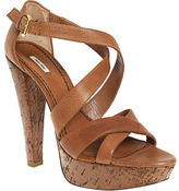 Double Cross Platform Sandal - Tan