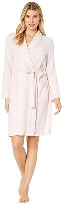 Lauren Ralph Lauren Brushed Knit Short Shawl Collar Robe (Pink) Women's Robe