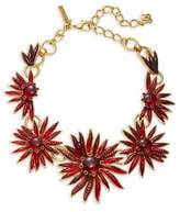 Oscar de la Renta Stone-Accented Floral Statement Necklace