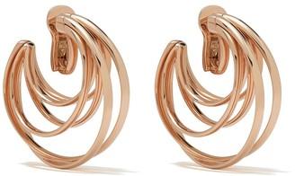 de Grisogono 18kt Rose Gold Coil Hoops