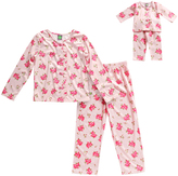 Dollie & Me Pink Floral Sleep Top Set & Doll Outfit - Toddler & Girls