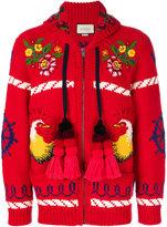 Gucci Bomber jacket with appliqués - men - Wool - L