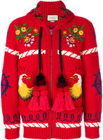 Gucci Bomber jacket with appliqués - men - Wool - S