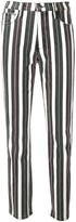 Frame striped slim-fit jeans