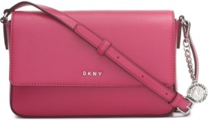DKNY Bryant Leather Flap Crossbody, Created for Macy's