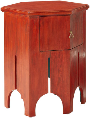 OKA Turret Side Table - Moroccan Red
