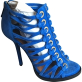 Givenchy Blue Suede Heels