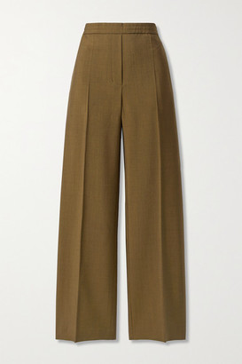 Acne Studios Wool And Mohair-blend Straight-leg Pants - Brown