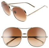 Chloé Women's 61Mm Oversize Aviator Sunglasses - Gold/ Brown