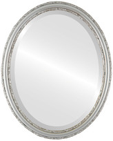 """The Oval And Round Mirror Store Virginia Framed Oval Mirror in Silver Shade, 19""""x25"""""""