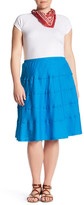 Allen Allen Tiered Skirt (Plus Size)