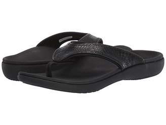 Spenco Yumi 2 Croco (Black) Women's Sandals
