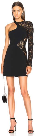 David Koma Lace Sleeve Mini Dress