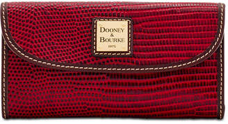 Dooney & Bourke Lizard-Embossed Leather Continental Wallet