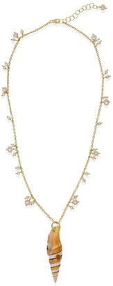 Vintouch Italy Bubble Pearls Necklace With Coral & Shells
