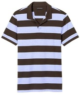 Banana Republic Luxury-Touch Rugby Stripe Polo