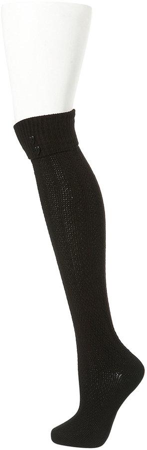 Topshop Heart Button Knee High Socks