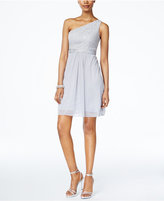 Adrianna Papell One-Shoulder Lace Dress