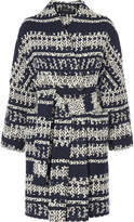 Karen Millen Knitted Geo Wrap Coat - Blue/multi
