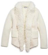 Splendid Girls' Faux Suede Wrap Sweater - Sizes 2-6X