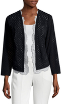 Tracy Reese Lace Lined Eyelet Cardigan