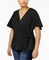 Planet Gold Trendy Plus Size Faux-Wrap Top