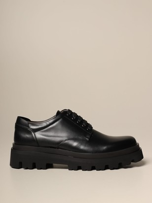 Sergio Rossi Brogue Shoes Derby In Leather With Rubber Sole