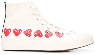 Comme des Garcons x Converse Chuck Taylor multi heart 1970s high-top sneakers