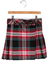 Junior Gaultier Girls' Plaid Pleated Skirt