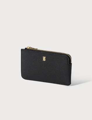 Burberry Grainy Leather Zip Coin Purse