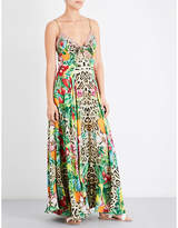Camilla Graphic-print silk maxi dress