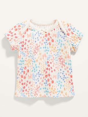 Old Navy Short-Sleeve Printed Rib-Knit Top for Baby
