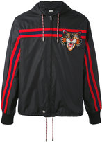 Gucci Windbreaker with Angry Cat appliqué - men - Polyamide/Virgin Wool - 50