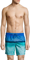 "Sundek Ocean Photo 16"" Elastic Waist Swim Shorts"