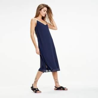 Tommy Hilfiger Logo Tape Strap Sheer Dress