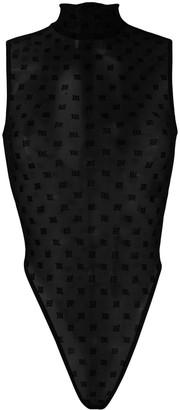 Misbhv Monogram Mesh Sleeveless Bodysuit