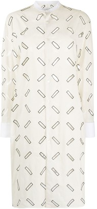 Lanvin Cut-Out Shirt Dress