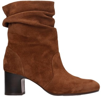 Chie Mihara Nasti High Heels Ankle Boots In Leather Color Suede