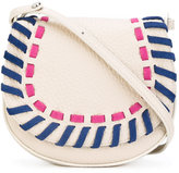 Orciani woven detail saddle bag - women - Calf Leather - One Size