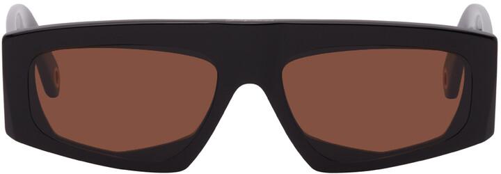 Jacquemus Black 'Les Lunettes Yauco' Flat Top Sunglasses