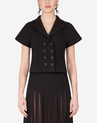 Dolce & Gabbana Short-Sleeved Woolen Double-Breasted Jacket