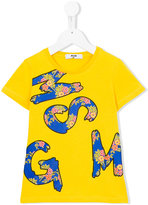 MSGM logo print T-shirt - kids - Cotton - 12 yrs