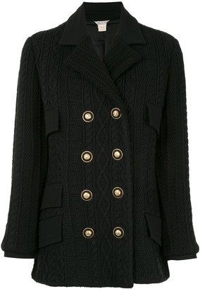 Versace Pre Owned Medusa button double-breasted long sleeve jacket