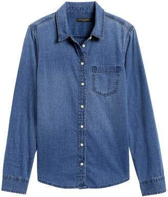 Banana Republic Quinn Straight-Fit Denim Shirt