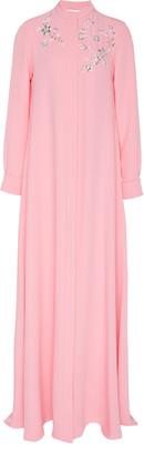 Carolina Herrera Moda Exclusive Full Sleeve Embroidered Silk Caftan