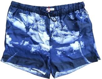 Orlebar Brown Blue Silk Shorts for Women