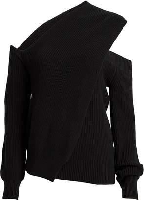 RtA Juliet Ribbed Cold-Shoulder Sweater