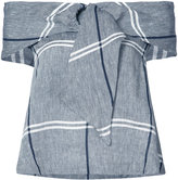 Suno checked top - women - Cotton/Linen/Flax - 0